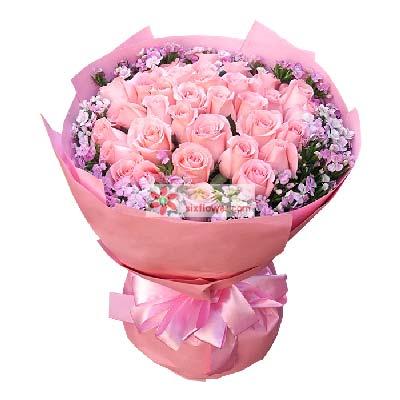 南京花里甜爱的愿望/33支粉玫瑰