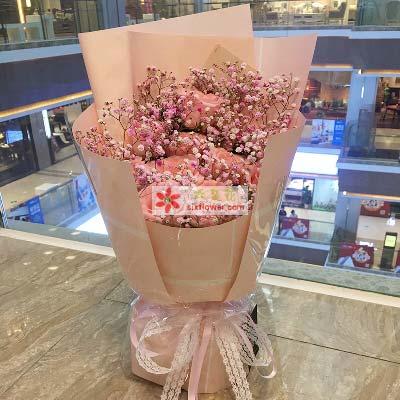 路上花店幸福的明天/11支粉玫瑰