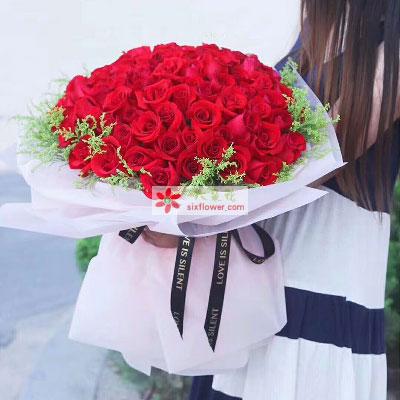 一号花店(爱尚鲜花店)一往深情/33支红色玫瑰