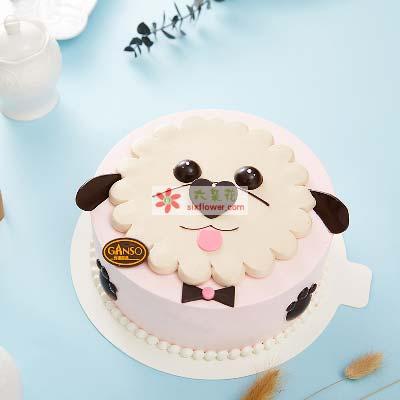 旺事如意/8寸元祖鲜奶蛋糕沁香花艺