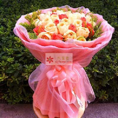 深圳观澜花坊33朵玫瑰,爱你永不变