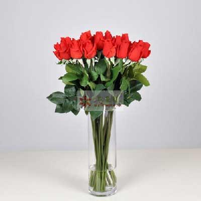 深圳观澜花坊19朵红玫瑰,瓶插花,我们的爱永驻幸福港湾
