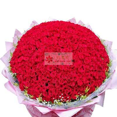 吾爱花橱鲜花店999朵红玫瑰,生生世世爱你不变