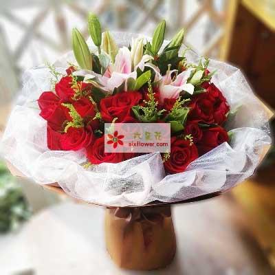 顺意缘鲜花坊心里都是你/33支红色玫瑰