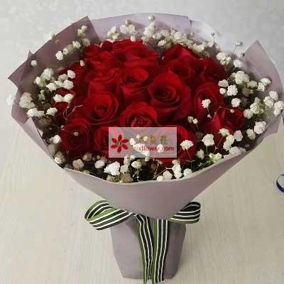 惜缘鲜花行美丽的你/33支红色玫瑰
