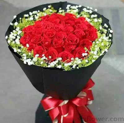 江宁好美鲜花蛋糕思念那么浓/29支红色玫瑰