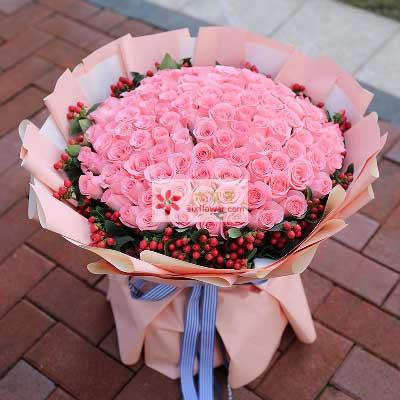 靠近你/99支戴安娜玫瑰幸福鲜花婚庆