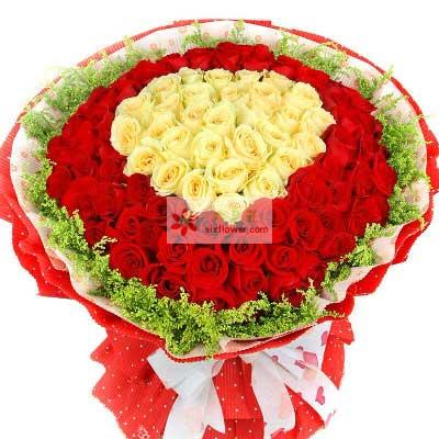 雨梦花艺99朵玫瑰,你是我的爱神