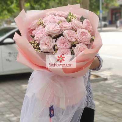 99朵香槟玫瑰,爱你一辈子也不够深圳花荣业茂花艺馆