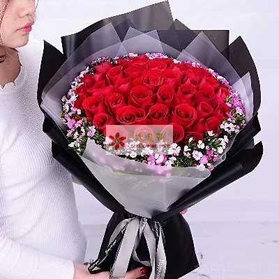 蓟州花时间爱不停/33支红色玫瑰