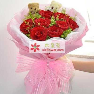 东莞樟木头新都花店愿和你一生相伴/9支红玫瑰