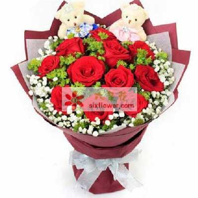 11支玫瑰/爱的恋人上海崇明新艺鲜花