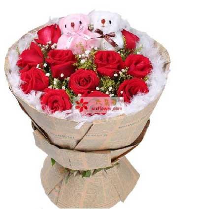 瑞安花落你家鲜花店安静的把你想起/11支红玫瑰