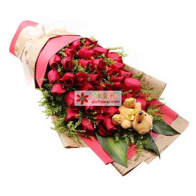 增城良缘花坊我的心里只有你/29支红玫瑰