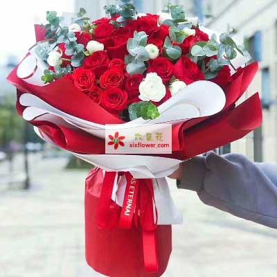甜蜜的爱情/52支红色玫瑰大邑县兰心花艺
