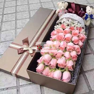 让你幸福一生/36支戴安娜玫瑰礼盒宁波镇海骆驼爱尚花坊