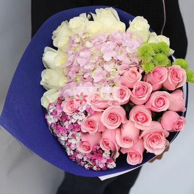 每天与你共度/33支玫瑰上海连心缘鲜花
