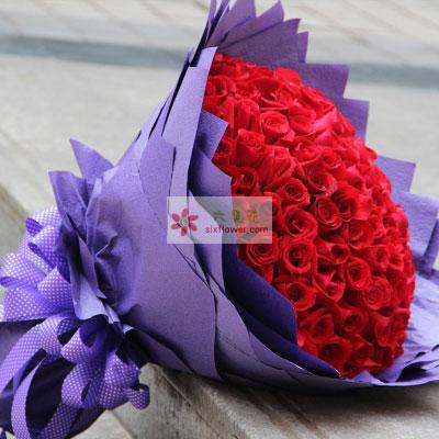 浪漫一生/99枝红玫瑰上海妮成鲜花店