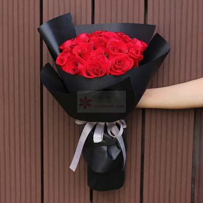 东莞市厚街元亨花坊爱永远/21支红色玫瑰