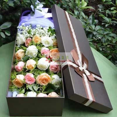 你是我生命的全部/21支玫瑰礼盒温馨小花屋