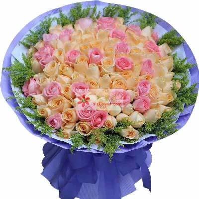 君钰鲜花蛋糕店美丽可爱/99支玫瑰