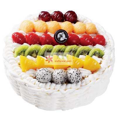 鄞州区友好鲜花你是我今生的骄傲/8寸圆形水果蛋糕