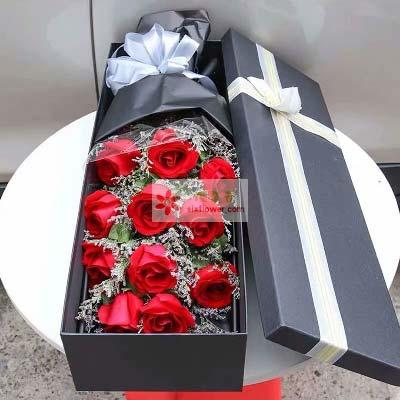 11支红玫瑰礼盒/永远的珍惜你上海花姑子