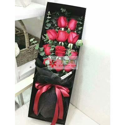 你是我的爱/11支红玫瑰礼盒宁波恋人相恋鲜花店
