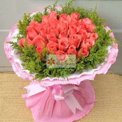 东莞厚街情有独钟花坊想要你说声爱我/29支粉玫瑰