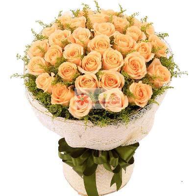 30支香槟玫瑰/英俊潇洒上海连心缘鲜花
