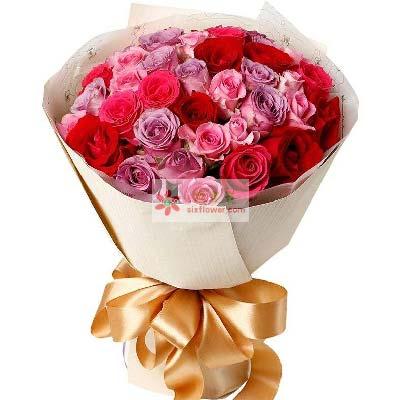 33支玫瑰/甜甜蜜蜜的一生心馨鲜花礼品店