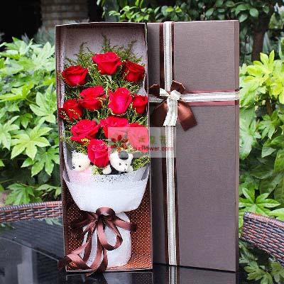 江南花卉婚庆11支红玫瑰/美丽的人