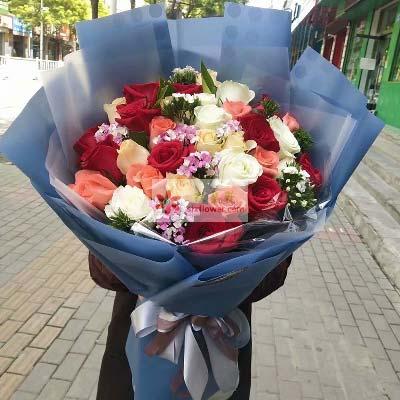 我眼里你最美/33支玫瑰上海崇明新艺鲜花