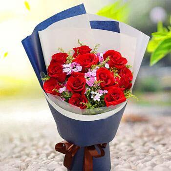望城兰亭花坊11支红玫瑰/一路有你