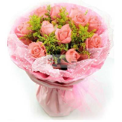 11朵粉玫瑰/时时想着你仁和花卉