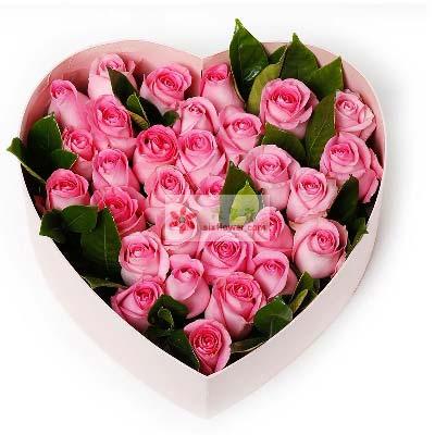 30朵苏醒玫瑰礼盒/深深思念瑞安花落你家鲜花店