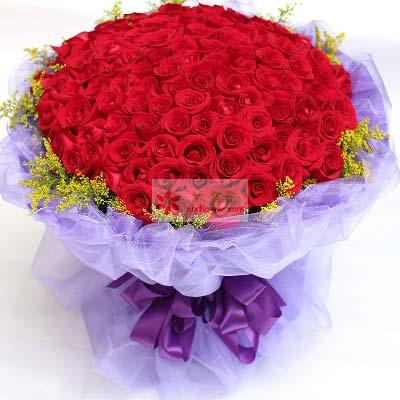 99支红玫瑰/一生去感受你杭州温馨花坊