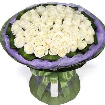 45朵白玫瑰/心心相印芳草地花行