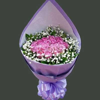 芳草地花行19朵紫玫瑰,一生永甜蜜