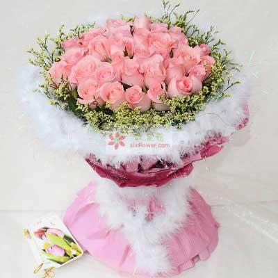 樟木头花坊27朵戴安娜玫瑰,太爱你