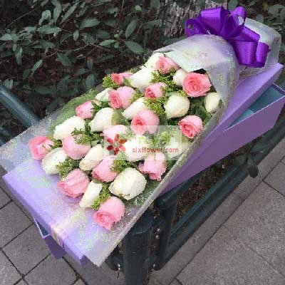 30朵玫瑰花,一辈子愿意与你在一起方圆鲜花