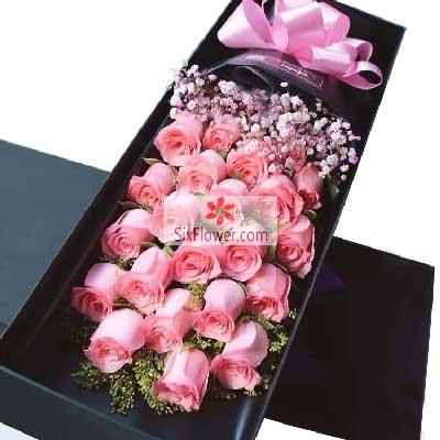 21朵戴安娜粉玫瑰,喜欢每一天的你优昙花屋