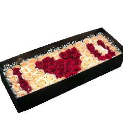 99朵玫瑰礼盒,牵你的手生生世世