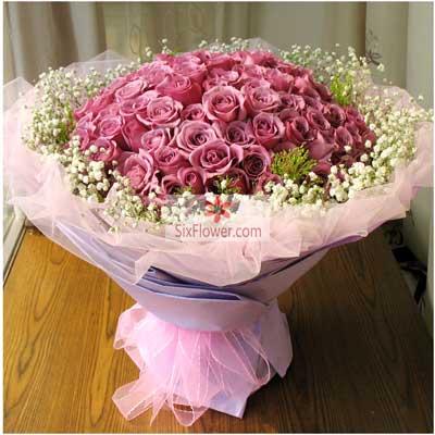 99朵紫玫瑰,爱情终成眷属增城美奇