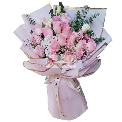 小新的花12朵戴安娜粉玫瑰,永远青春美丽