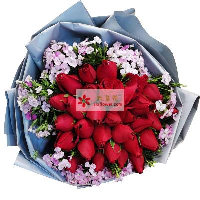 31朵玫瑰,知我心着只有你花艺之恋花店