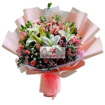 29朵戴安娜粉玫瑰,此生不离武汉幸子花行
