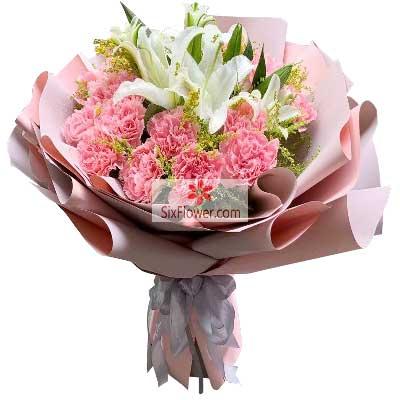 19朵香槟玫瑰,深深的爱意花艺之恋花店
