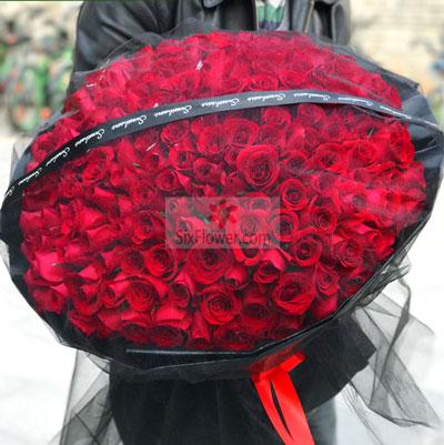 199朵红玫瑰,生命因你而精彩慈溪一梅花艺