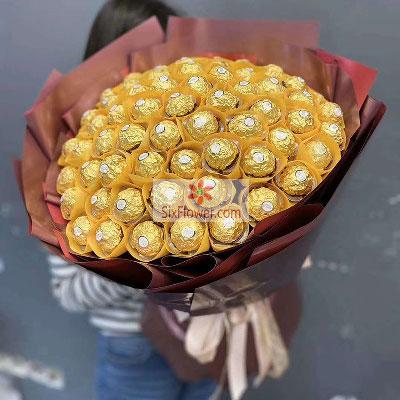 花戒花艺坊66颗巧克力,陪你一路远航